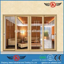 JK-AW9124 Superior Vier-Blatt-Glas Tür-Design Türen und Fenster