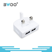 Brand Factory Wholesale 2 USB UK Charger 2.1A Wall Charger
