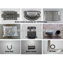 top quality brake shoes assembly / bus parts