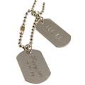 Étiquettes personnalisées pour chien de couple d'impression en métal pour la promotion