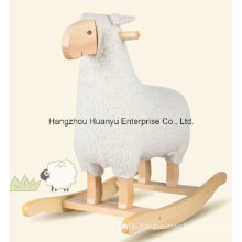 New Design Stuffed Rocking Animal-White Sheep Rocker