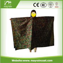 Woodland Camo Poncho Raincoat Multi functional Waterproof