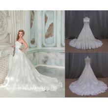 Vestido de boda del vestido nupcial del Applique del cordón de la alta calidad