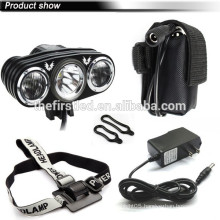 JEXREE Cree-XM-L2 LED 3000 Lumens Bike light with rechargeable battery