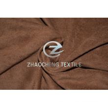 2 Ways Stretch Knitted Micro Suede with Vertical Sense and Very Soft Handfeel for Clothes and Home Use