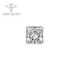 ForeverFlame  G H Princess 1.2ct Cut diamond CVD CZ Moissanite women jewelry