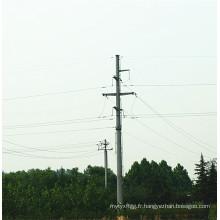 Pôle de transmission de puissance de tuyau d'acier de 35 kV