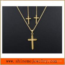Joyas de acero inoxidable Tres piezas de la personalidad de la moda tachonada con collar (SSNL2648)