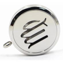 Silber 30mm Rd Edelstahl Parfüm Locket mit Openworks