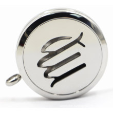 Silver 30mm Rd Stainless Steel Perfume Locket with Openworks