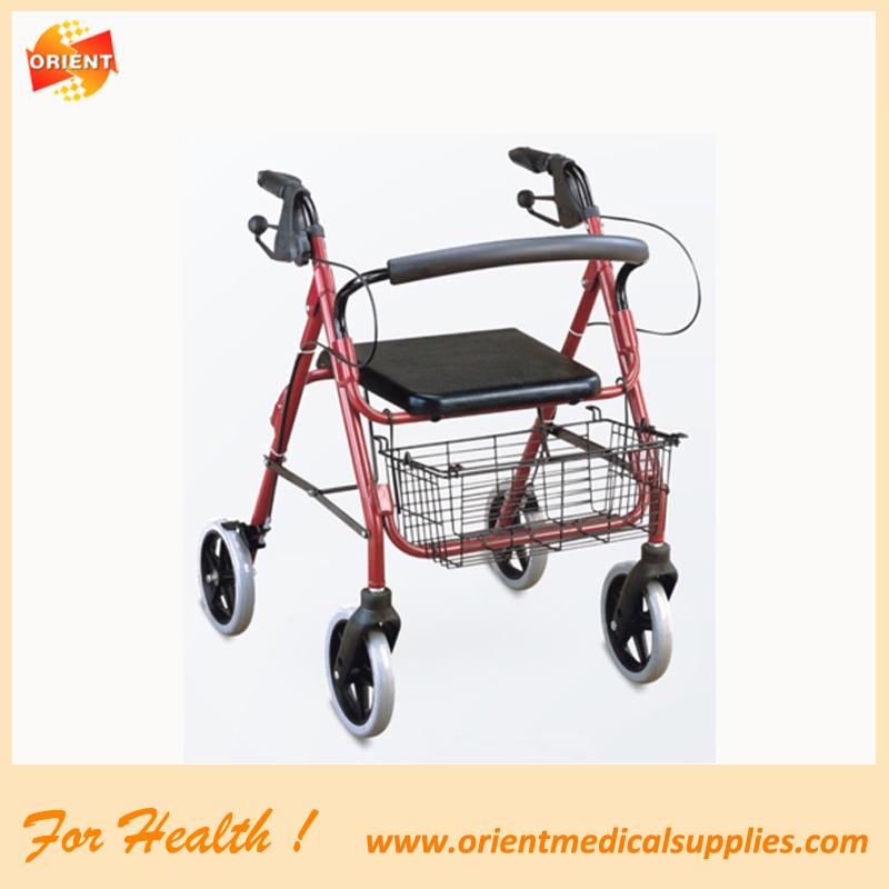 Aluminum Mobility Walker Foldable Rollator