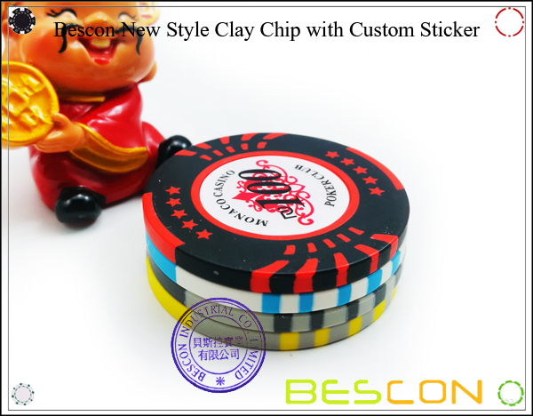 Bescon New Style Clay Chip with Custom Sticker-5