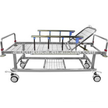 hospital stainless steel emergency trolley