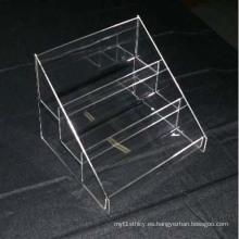 Estantería de exhibición transparente Perspex, tiendas minoristas