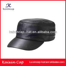 оптовая кадет шляпы/искусственный кожаный плоской вершиной армии шапки/высокое качество военной фуражке с вами собственная конструкция
