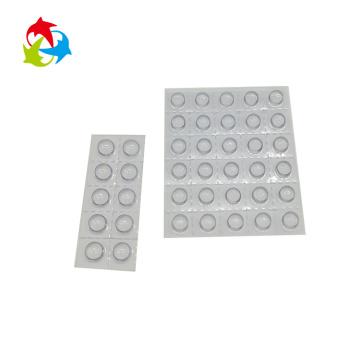 Transparent plastic tablet capsule blister packing