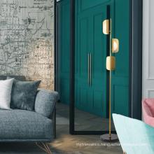 Zhongshan New Style Designed Hotel Fancy Decorative Gold Brass Lighting Antique Standing Floor Lamp