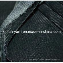100% poliéster grabado en relieve tejido de punto flocado para sofá / muebles