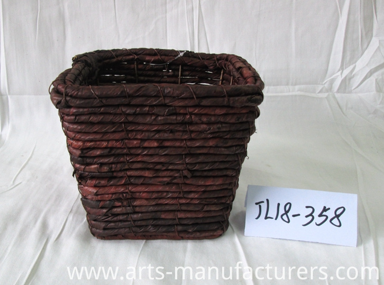 weaving flower pot