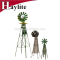 Colorful powder coat metal garden windmill for decorations