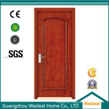 Puerta de PVC de madera arquitectónica con estructura y hardware personalizados