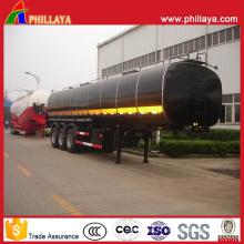 Camion de réservoir de bitume 40000liters Camion-citerne asphalte chauffé de semi-remorque