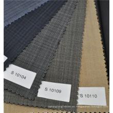 Tela de lana de color gris oscuro 70 lana y 30 poliéster mezcla traje de tela tela de mango para hombre