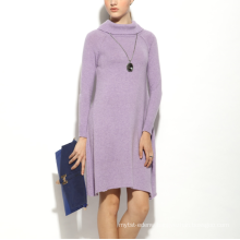 17PKCS159 2017 women winter warm trendy 85/15 cotton cashmere dress