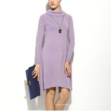 17PKCS159 2017 mulheres inverno quente moda 85/15 vestido de caxemira de algodão