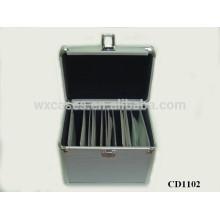 Boîtier de CD aluminium 100 CD disques avec peau panneau ABS vend en gros fabricant, Chine