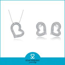 2016 Melhor qualidade da jóia da prata da colar das mulheres (J-0001)