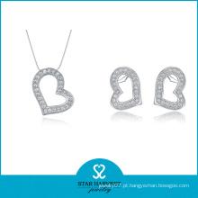 2016 melhor qualidade mulheres colar de jóias de prata (J-0001)