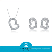 Love Couple 925 Sterling Silver Jewelry Set with Lucky (J-0001)