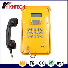 Tunnel Téléphone VoIP Téléphone Knsp-16 LCD imperméable industriel robuste Téléphone