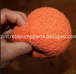 soft concrete pump cleaning ball