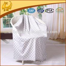 Weiß und grau gewebte 100% Seide Großhandel werfen Decke