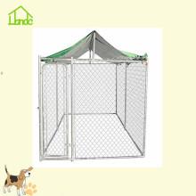 Cage pour chien avec clôture à mailles de chaîne avec toit personnalisable