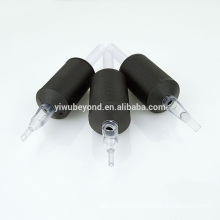 "1"" (25MM) Black Sterile Disposable Tattoo Grips with Clear Tip"