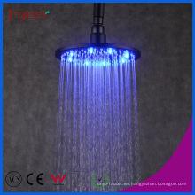 Baño de ducha Fyeer Cabeza de ducha de lluvia LED de latón negro