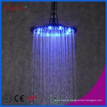 Fyeer Bathroom Shower Accessory Brass Black LED Rain Shower Head