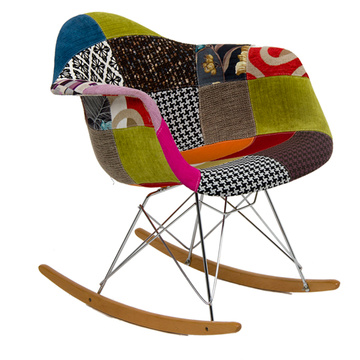 Eames Fabric Covered Racking ArmChair