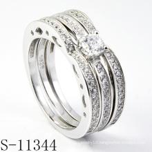 Unique 925 Silver Jewelry Combination Zirconia Ring (S-11344)
