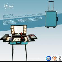 Mastor Profesional Nuevo diseño traval maleta para el maquillaje permanente