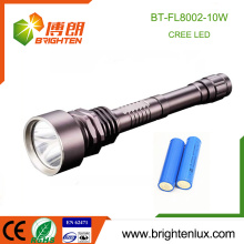 Factory Supply Heavy Duty Metal 2*18650 battery Long Range Hunting 10 Watt Cree led Rechargeable Super Bright Flashlight for gun