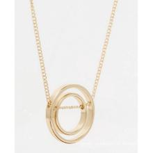 Geometría amor anillo collar largo bisutería