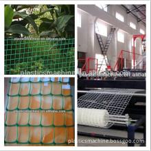 Plastic square mesh production line/machine