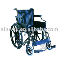 Steel wheelchair-flip up armrest, detachable leg rest, Mag wheel
