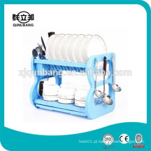2 Tier Kitchen Plastic Dish Stand ABS Dish Rack
