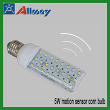 5W E27 motion sensor led corn bulb lamp