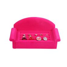 Диван Дизайн Розовый бархат ювелирные изделия Постельное белье (WS-PSofa)